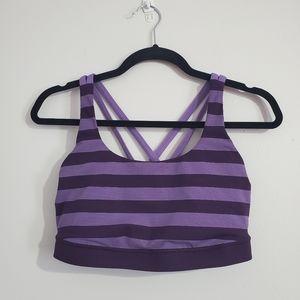Lululemon Striped Purple Sports Bra Size 10